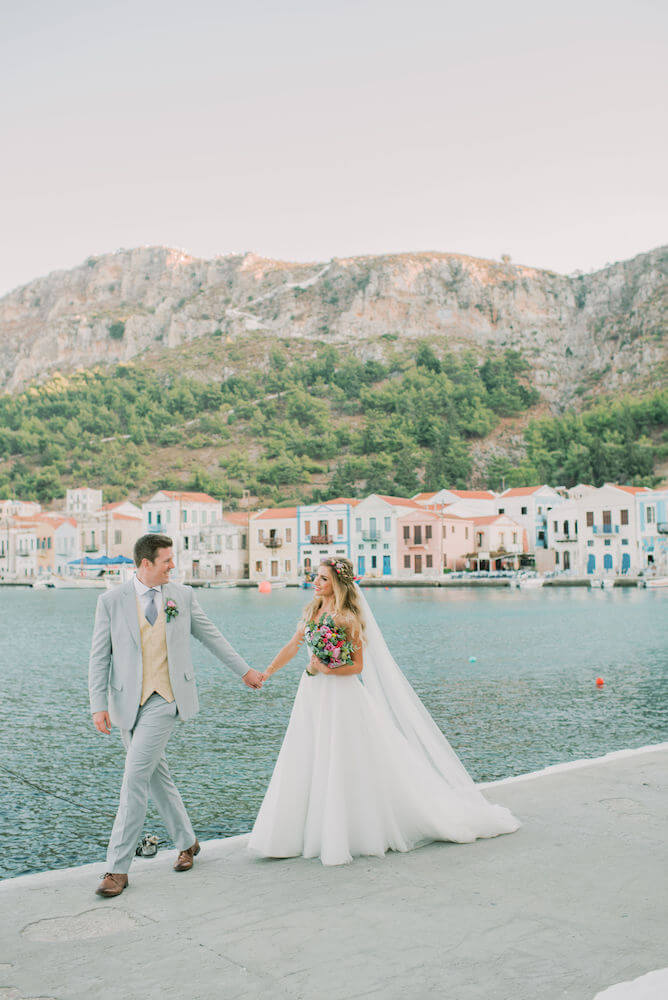 Destination wedding in Greece - Wedding Planner in Rhodes - lindos weddings - micro wedding in Kastelorizo