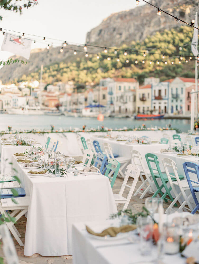 Mamma Mia wedding inspiration in Kastelorizo - Destination wedding in Greece - Wedding Planner in Rhodes - lindos weddings