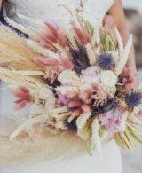 modern dried flowers wedding bouquet ideas Destination wedding in Greece - Wedding Planner in Rhodes -