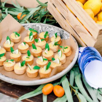 wedding treats with lemon for a destination wedding in Rhodes Greece