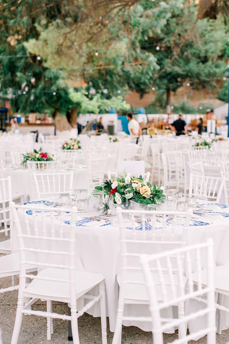 Destination wedding in Greece - Wedding Planner in Rhodes - Mediterranean outdoor wedding by Eventions