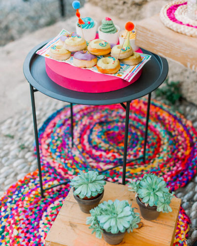 colourful bohemian boho christening baptism in greece decor ideas