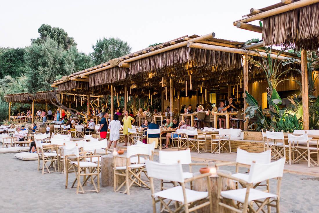 Destination wedding in Greece - Wedding Planner in Rhodes - beach wedding reception on Rhodes with colourful details