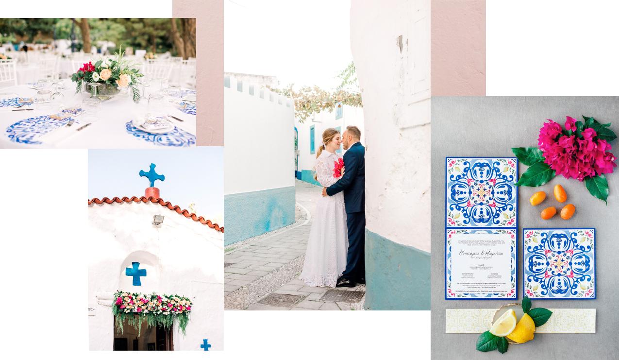 destination wedding planner in Rhodes - wedding collage by eventions wedding coordinators in Greece