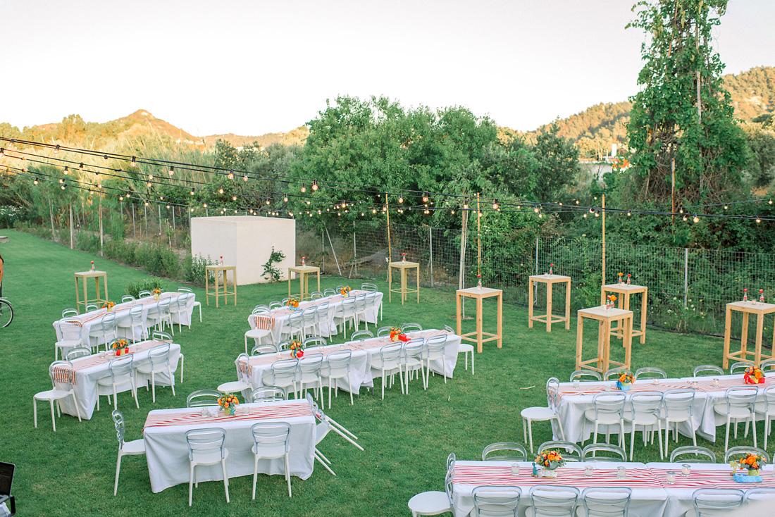garden wedding setting - Destination wedding in Greece - Wedding Planner in Rhodes