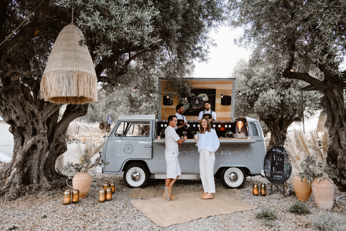 Destination wedding in Greece - Wedding Planner in Rhodes - lindos weddings - bar van wedding