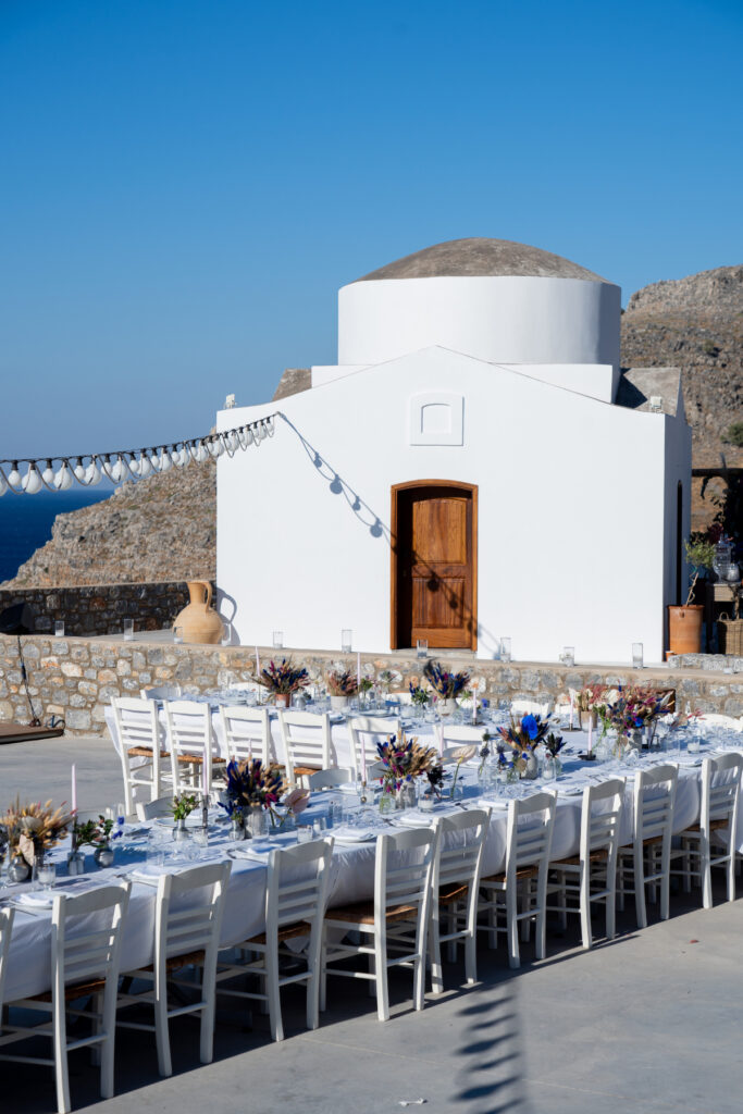 wedding planner in Rhodes - unique and creative wedding decor for a destination wedding in Rhodes