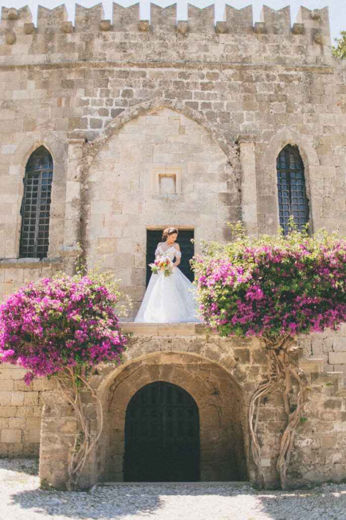 medieval castle wedding in Rhodes - Destination wedding in Greece - Wedding Planner in Rhodes - lindos weddings